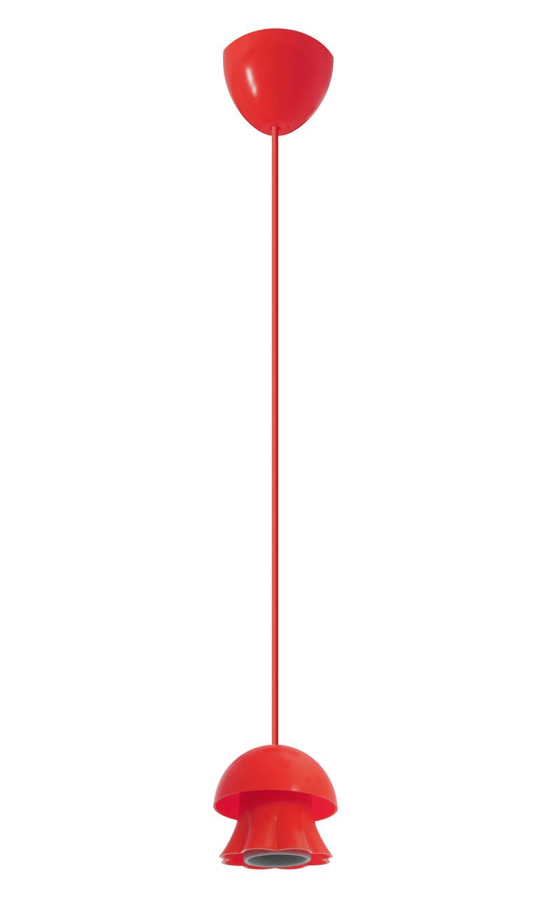 ERKA подвес для подвесного светильника 60W, Е27 красный 0,8м
