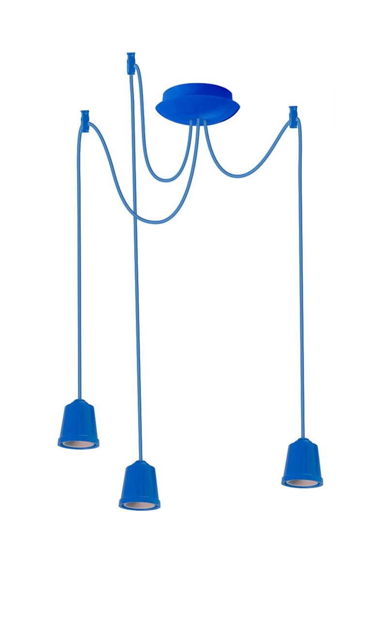 ERKA подвес для подвесного светильника 3х60W, Е27 синий 1м