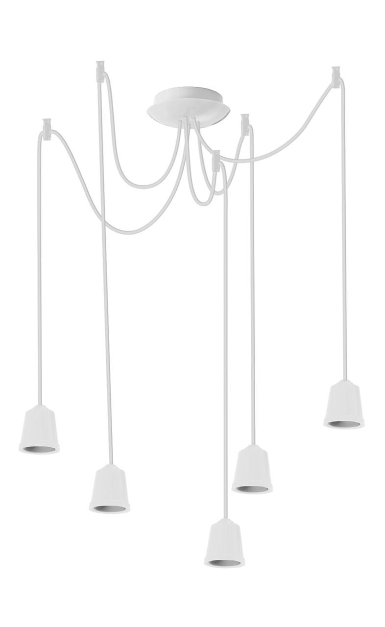 ERKA подвес для подвесного светильника 5х60W, Е27 белый 2м