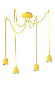 ERKA подвес для подвесного светильника 4х60W, Е27 желтый 2м