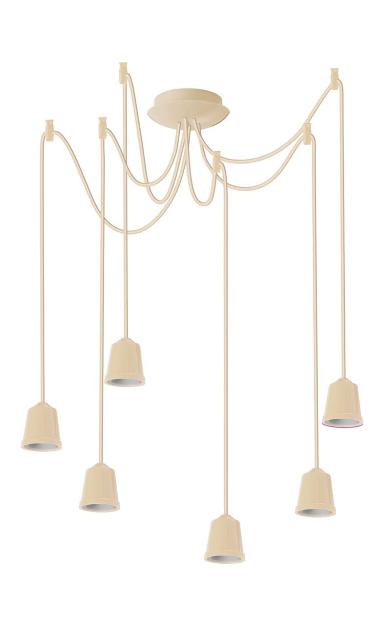 ERKA подвес для подвесного светильника 6х60W, Е27 слоновая кость 1м