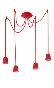ERKA подвес для подвесного светильника 4х60W, Е27 красный 2м