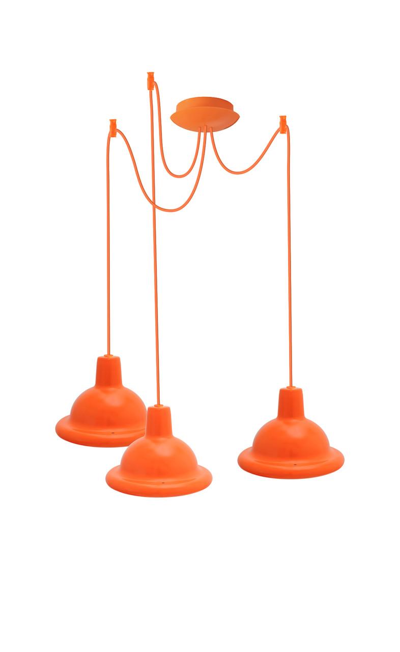 Світильник ERKA стельовий, 3*60W, 2м, помаранчевий, Е27