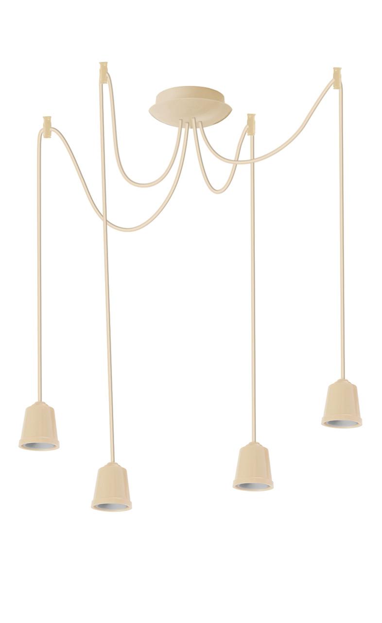 ERKA подвес для подвесного светильника 4х60W, Е27 слоновая кость 2м
