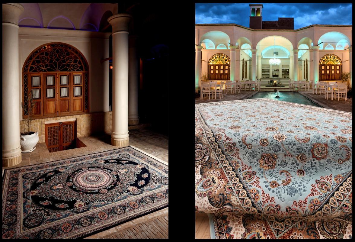 Коврик восточная классика Kashan 801 1,5Х2,25 Кремовый прямоугольник