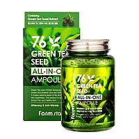 Сыворотка для лица с экстрактом семян зеленого чая FARMSTAY 76 Green Tea Seed All-In-One Ampoule 250ml