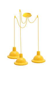 Світильник ERKA  стельовий, 3*12W, 2м, жовтий, Е27