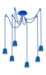ERKA підвіс для підвісного світильника 6х60W, синій Е27 2м