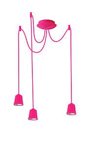 ERKA підвіс для підвісного світильника 3х60W, Е27 2м рожевий
