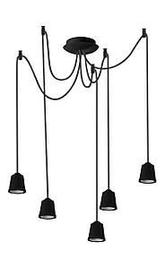 ERKA подвес для подвесного светильника 5х60W, Е27 черный 2м
