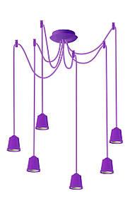 ERKA підвіс для підвісного світильника 6х60W, Е27 фіолетовий 2м