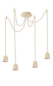 ERKA подвес для подвесного светильника 4х60W, Е27 слоновая кость 1м