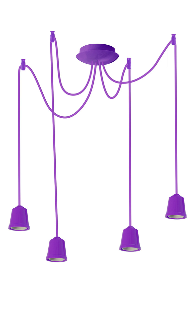 ERKA подвес для подвесного светильника 4х60W, Е27 фиолетовый 1м