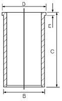 Гильза RENAULT 78.0 129-5/F8M 1.6D GOETZE 14-023730-00