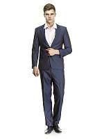 Деловой синий мужской костюм