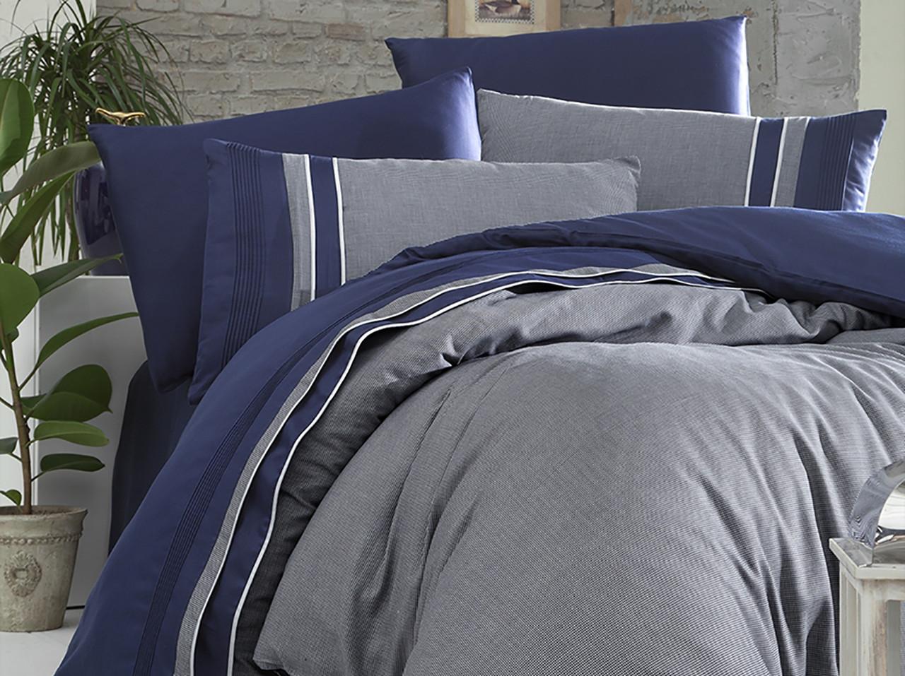 Шикарний Комплект постільної білизни євро Moonlight V. I. P Imaj Lacivert бренд First Choice