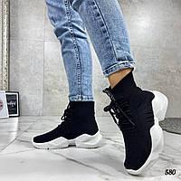Кроссовки женские текстильные. Женские черные кроссовки, внутри текстильная подкладка. Кросівки жіночі