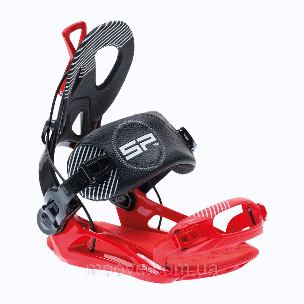 Крепления для сноуборда SP Bindings Fastec Private Black/Red M