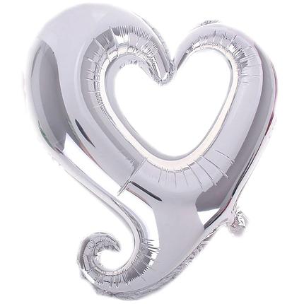 """Фигура 32"""" FLEXMETAL-ФМ Сердце ВЕНЗЕЛЬ серебро (УП), фото 2"""