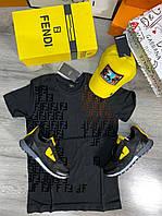 Мужская футболка Fendi D9392 черная