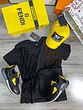 Мужская футболка Fendi D9392 черная, фото 3