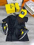 Мужская футболка Fendi D9392 черная, фото 2