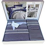 Шикарный Комплект постельного белья евро Moonlight V.I.P Imaj Gri Турция бренд First Choice, фото 2