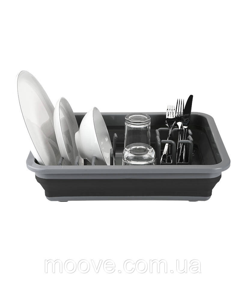 Summit Pop Dish Rack Drainer Black/Grey