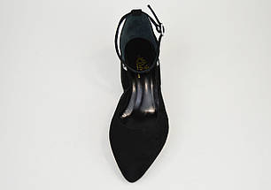 Туфлі відкриті Lirio 0118 Чорні замш-велюр, фото 2