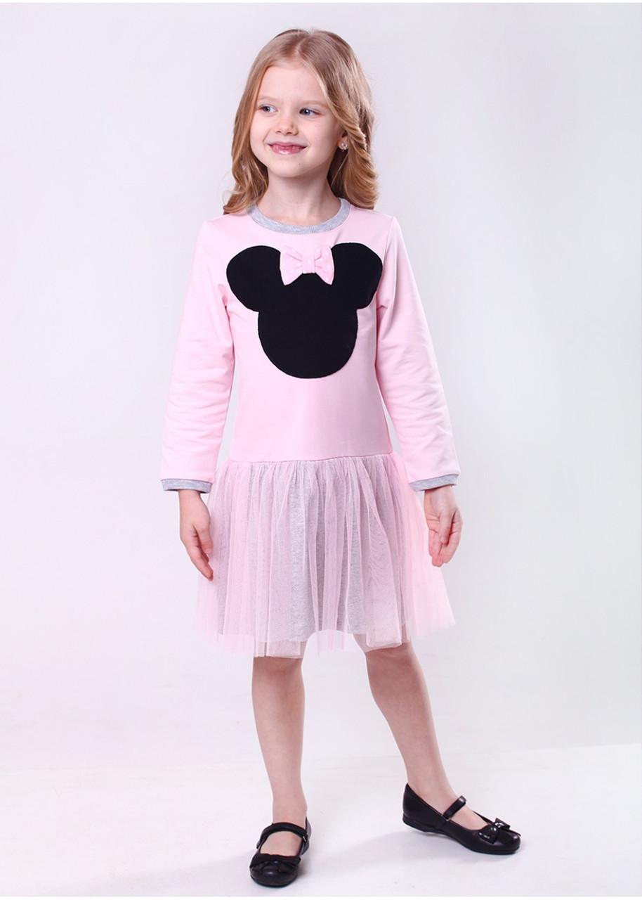"""Плаття для дівчинки """"Мишки"""" (рожевий) р. 122-140"""