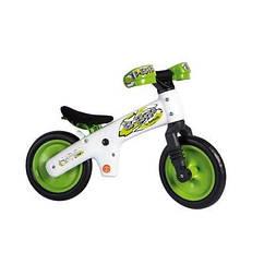 """Беговел 12"""" Bellelli B-Bip обучающий 2-5лет, пластмассовый, белый с зелёными колёсами"""