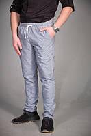 Мужские поварские брюки в клетку серого цвета