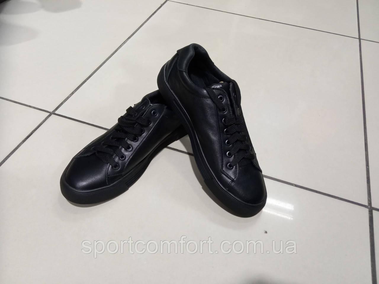 Кросівки(розмір 41) чорні шкіра under armour