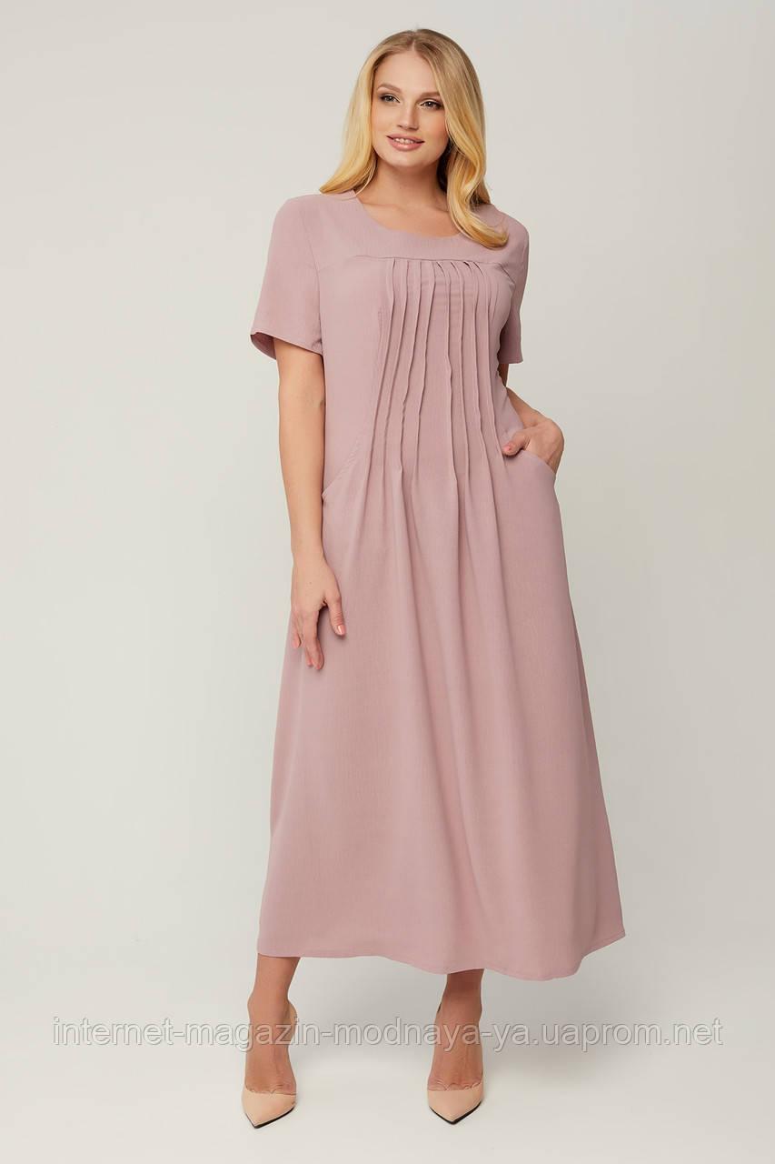 Платье длинное летнее Селия р. 54-64
