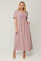 Платье длинное летнее Селия р. 54-64, фото 1
