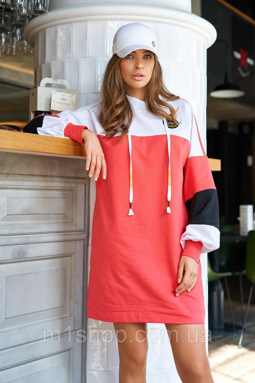 Повседневное спортивное женское трикотажное платье больших размеров (Боно_1 jd)