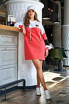 Повседневное спортивное женское трикотажное платье больших размеров (Боно_1 jd), фото 2