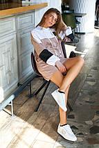 Повседневное спортивное женское трикотажное платье больших размеров (Боно_1 jd), фото 3