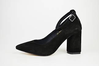 Туфли со съемным ремешком Nivelle 1990 Черные замша, фото 3