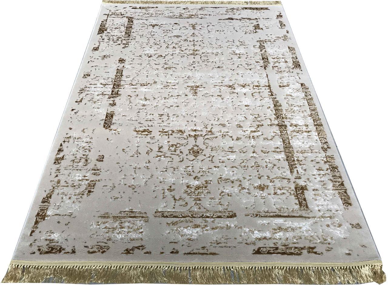 Ковер современный MANYAS P0920 1,6Х2,3 КРЕМОВЫЙ прямоугольник