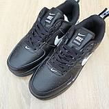 Кроссовки мужские Nike Air Force 1 LV8 черные, фото 3