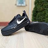 Кроссовки мужские Nike Air Force 1 LV8 черные, фото 4