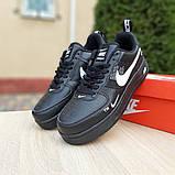 Кроссовки мужские Nike Air Force 1 LV8 черные, фото 7