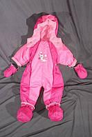 Детский демисезонный комбинезон-трансформер на флисе Розовый