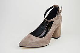 Туфли со съемным ремешком Nivelle 1990 Визон замша