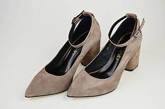 Туфли со съемным ремешком Nivelle 1990 Визон замша, фото 2