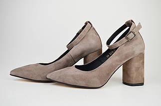 Туфли со съемным ремешком Nivelle 1990 Визон замша, фото 3