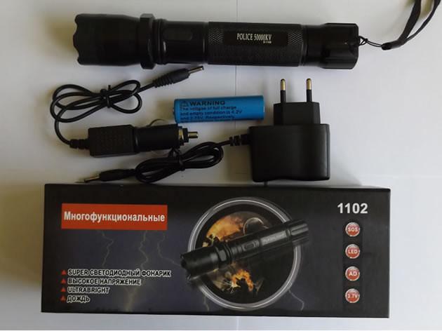 Шокер-фонарь 1102 шерхан Police Plus
