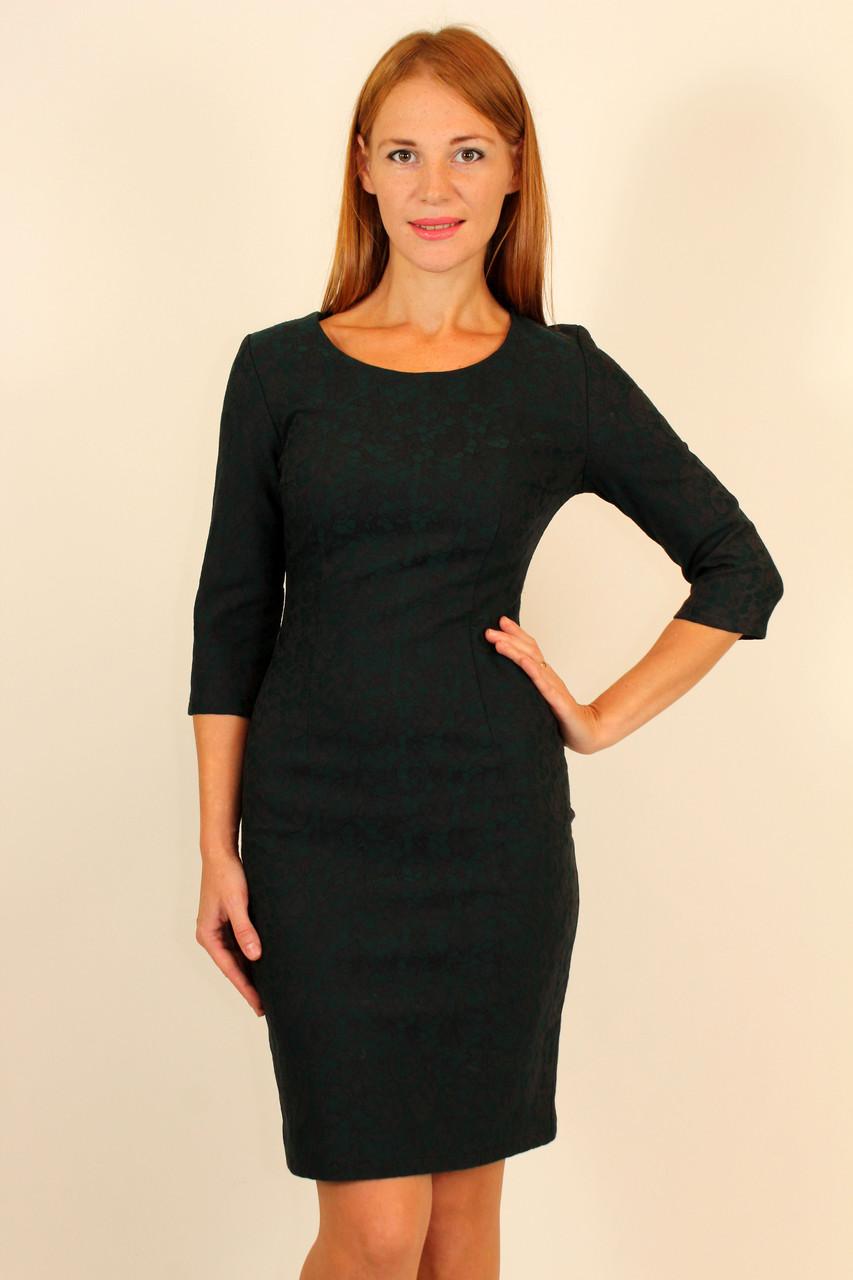 Платье футляр из жаккарда 42-48 р