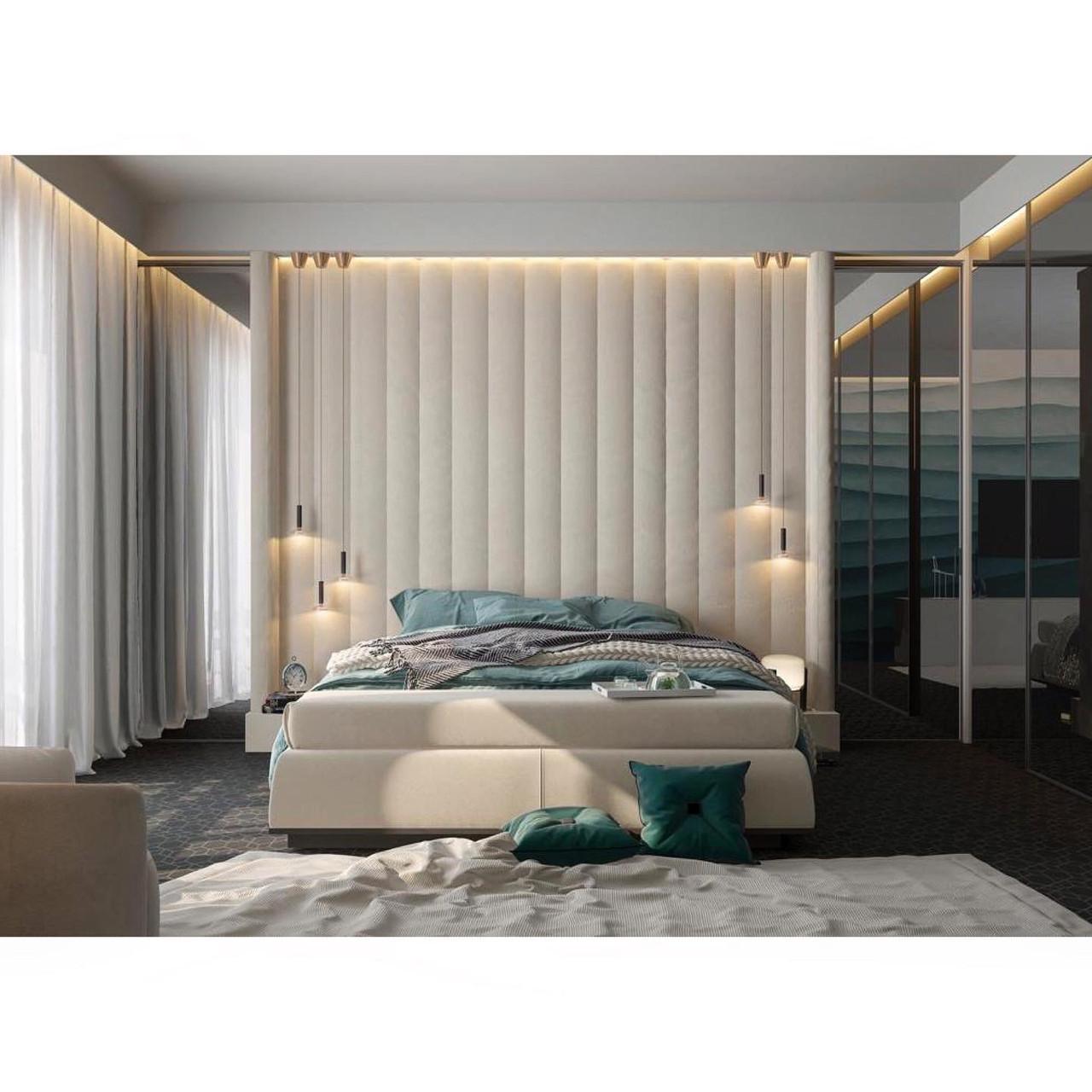 Мягкие декоративные панели в спальню